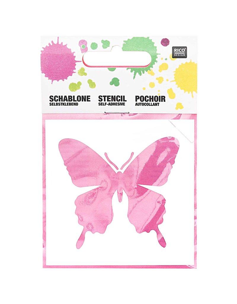 RICO Schablone klein Schmetterling 7,5cm x 7,5cm Nr. 967