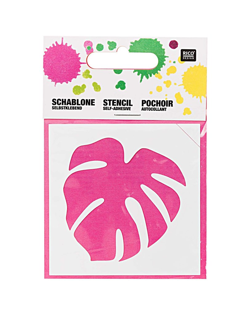 RICO Schablone klein Blatt 7,5cm x 7,5cm Nr. 936