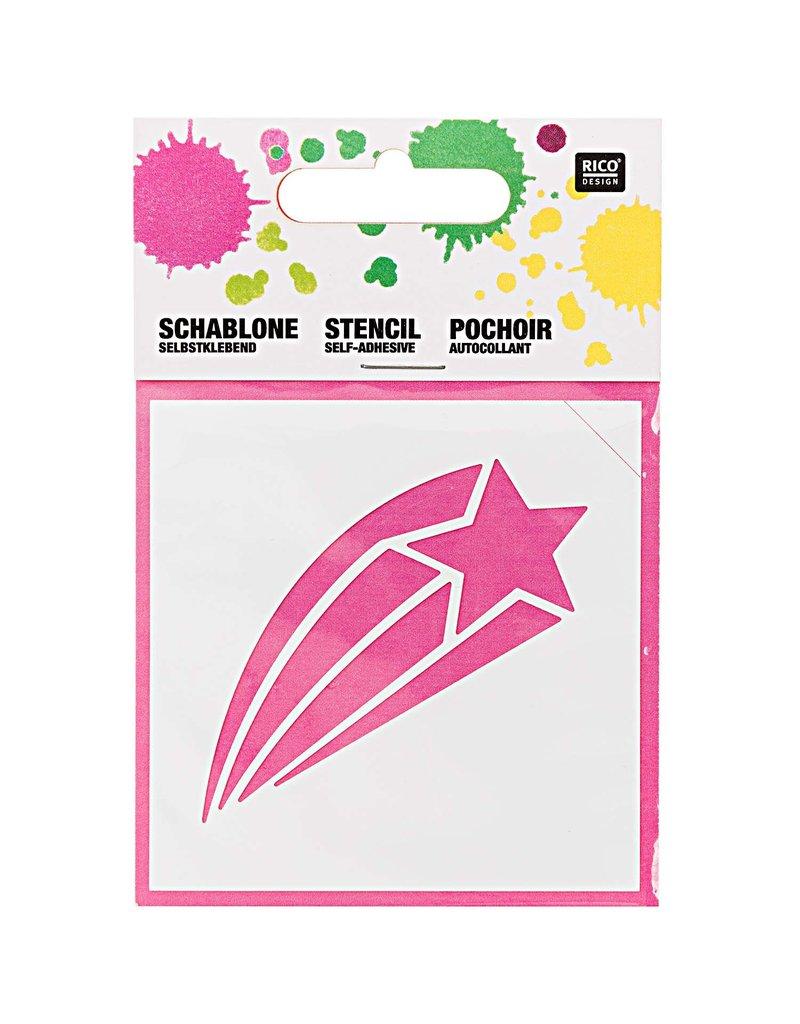 RICO Schablone klein Sternschnuppe 7,5cm x 7,5cm Nr. 932