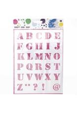 RICO Schablone mittel Schrift 1 18,5cm x 24,5cm Nr. 985