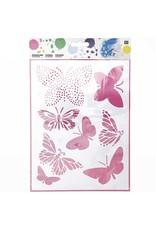 RICO Schablone mittel Schmetterlinge 18,5cm x 24,5cm Nr. 982