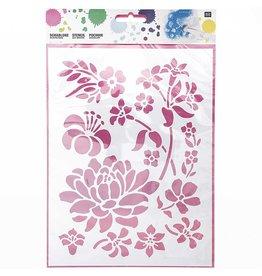 RICO Schablone mittel Blumen 18,5cm x 24,5cm Nr. 973