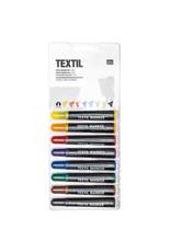 RICO Textilmarker Set Basic 8 Stück