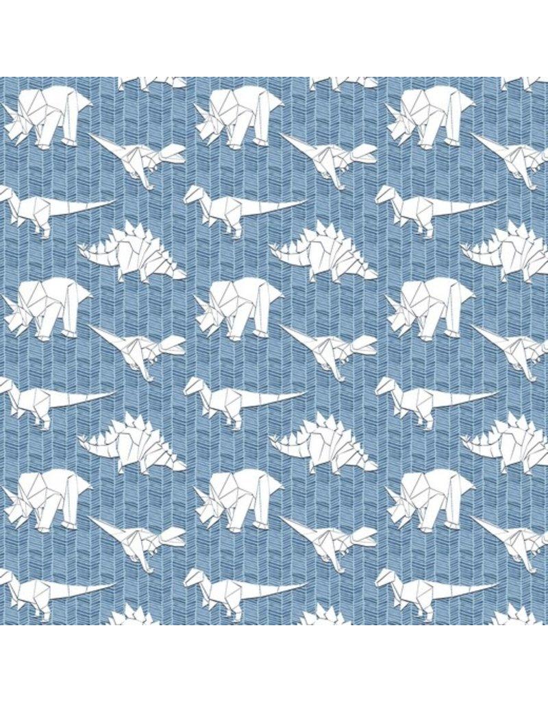 Sweat Soft Motiv Dinosaurier blue GOTs