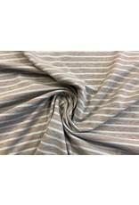 Jersey Motiv Streifen grau meliert hellblau