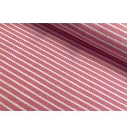 Jersey Motiv Streifen rosa 7mm weiß 3mm