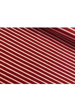 Jersey Motiv Streifen rot 7mm weiß 3mm