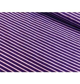 Jersey Motiv Streifen lila 7mm flieder 3mm