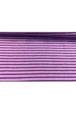 Jersey Motiv Streifen flieder 7mm lila 3mm