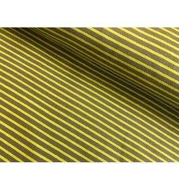 Jersey Motiv Streifen olive 7mm hellgrün 3mm