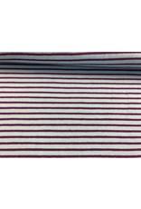 Jersey Motiv Streifen hellblau 7mm lila 3mm