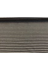 Jersey Motiv Streifen schwarz 7mm grau meliert 3mm