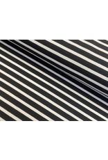 Sommersweat Motiv Streifen schwarz 1 cm weiß 6mm