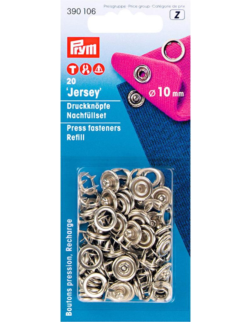 Prym NF-Druckknopf Jersey  Nachfüllpack MS 10 mm silberfarbig