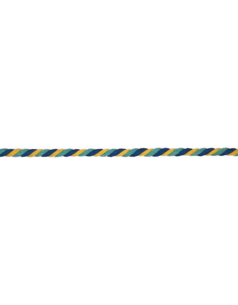 Kordel Multicolor aqua gelb blau 6mm Col. 521
