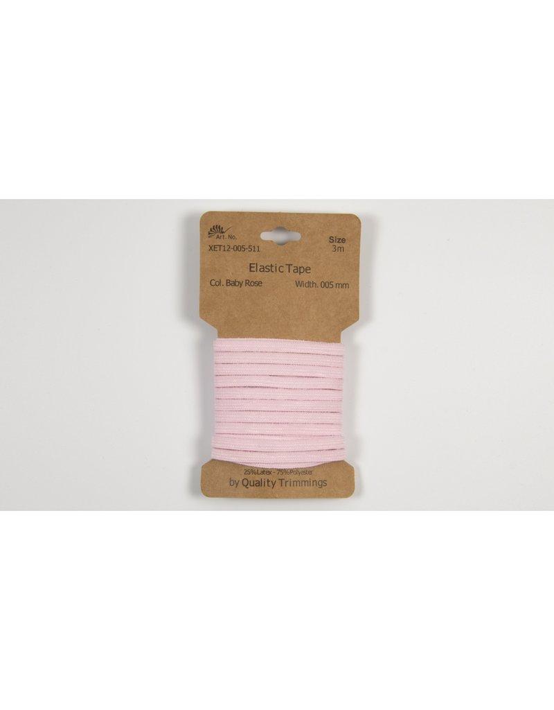 Gummiband 5mm rosa 3m Abschnitt