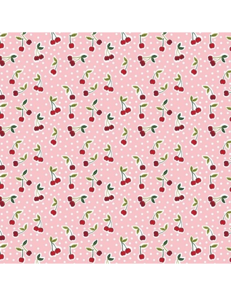 Baumwolle Cherry Kirschen rosa