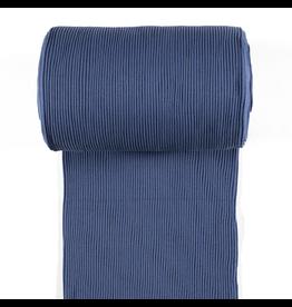 Bündchen Uni breitgerippt indigo blau