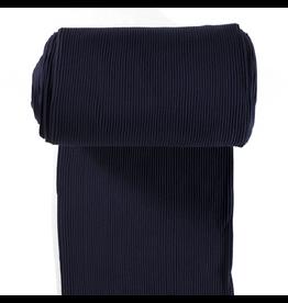 Bündchen Uni breitgerippt marine blau