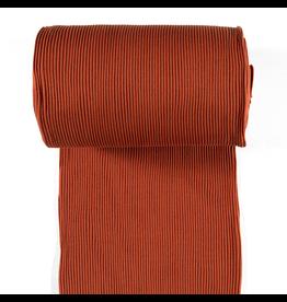 Bündchen Uni breitgerippt rost rot