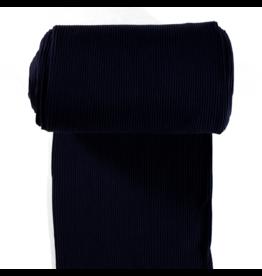 Bündchen Uni breitgerippt schwarz
