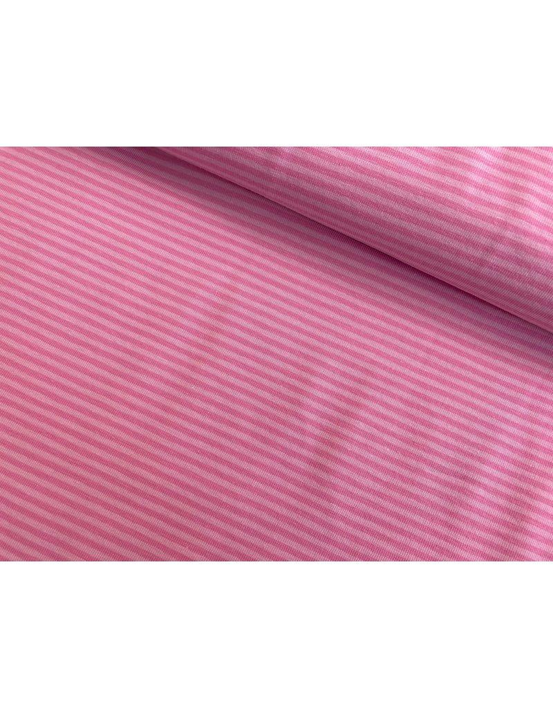 Jersey Motiv Streifen rosa 3mm altrosa 3mm