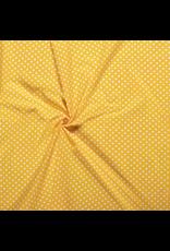 Baumwolle Motiv gelb Punkte