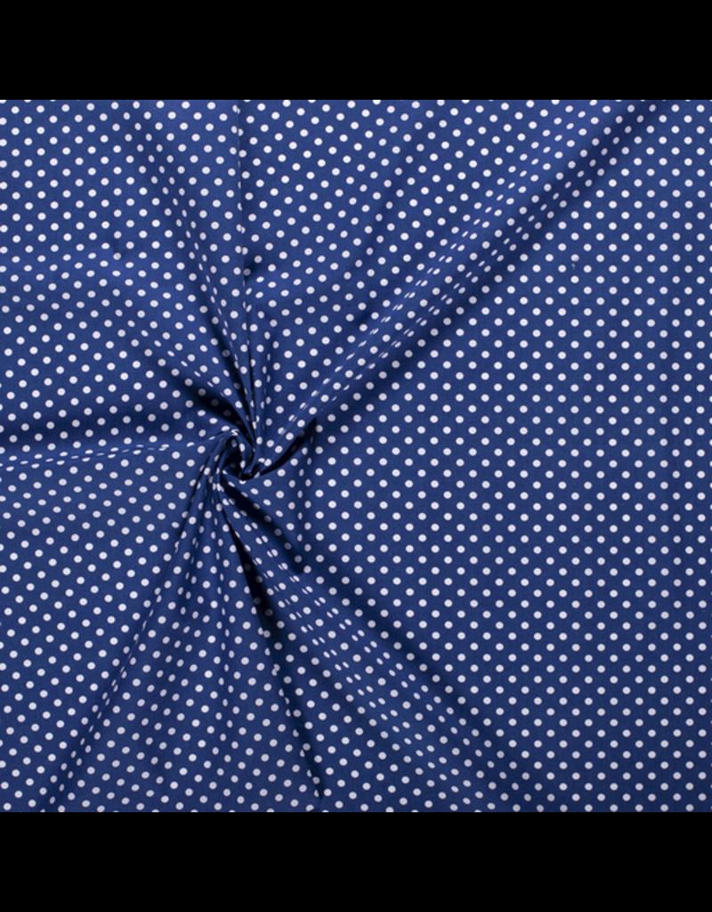 Baumwolle Motiv kobalt blau Punkte