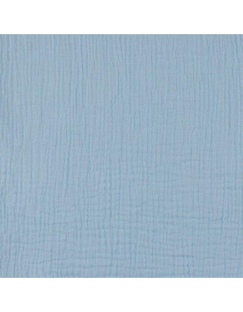 Musselin Uni blue Double Gauze
