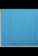 Baumwolle Motiv aqua Punkte weiß