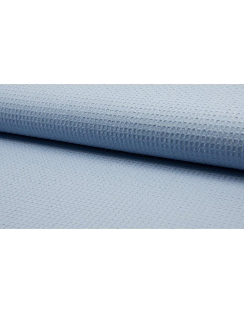 Waffel Uni dusty blue
