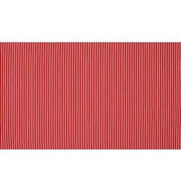 Baumwolle Motiv rot Streifen weiß