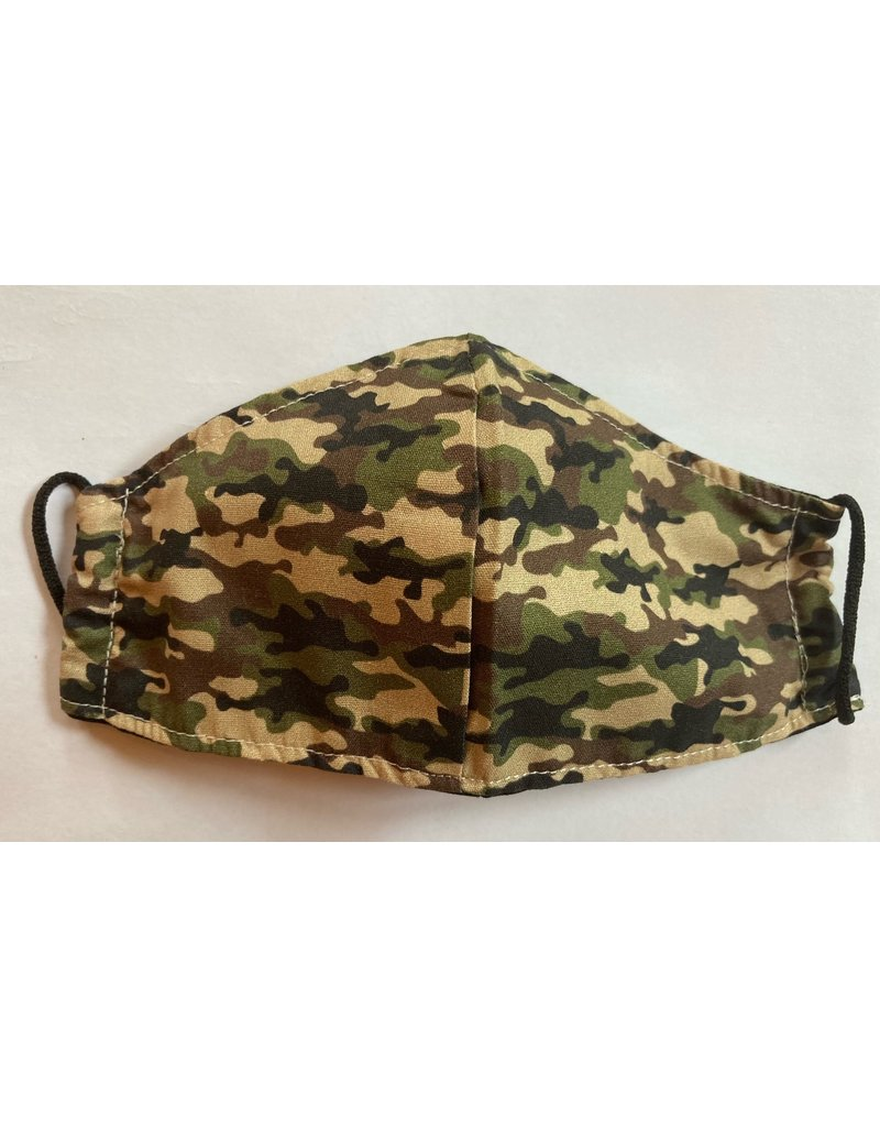 Maskenzuschnitt Camouflage Vorderteil inkl. 50 cm Flachgummi