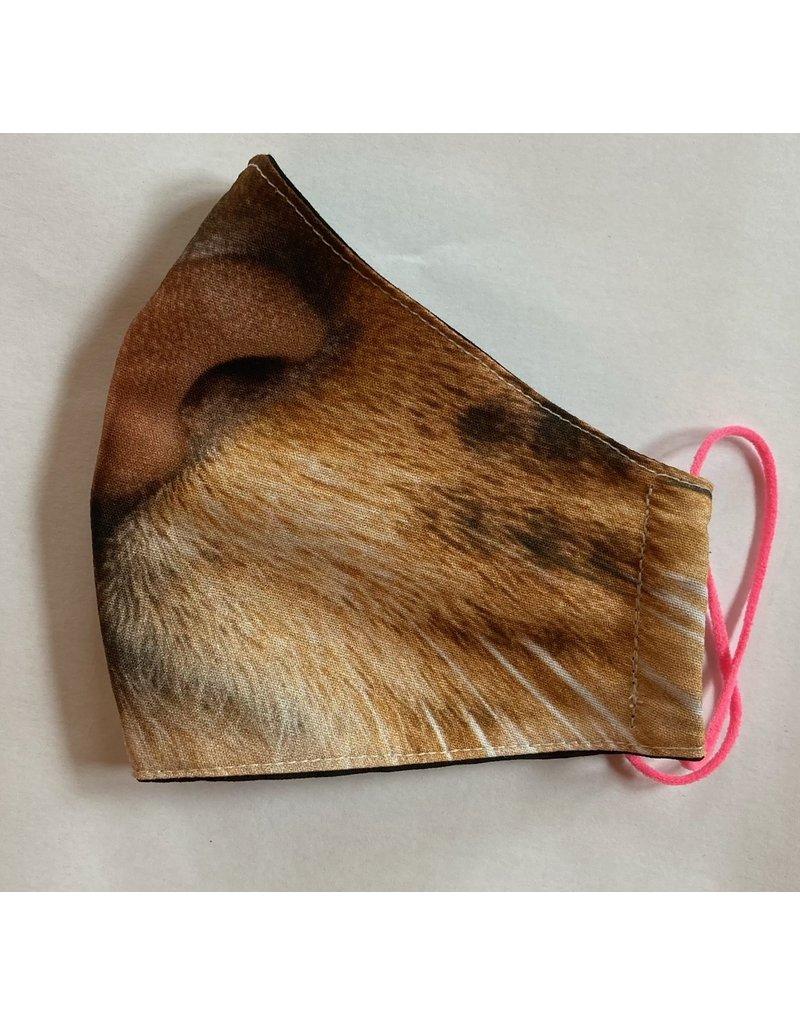 Maskenzuschnitt Katzengesicht Vorderteil inkl. 50 cm Flachgummi