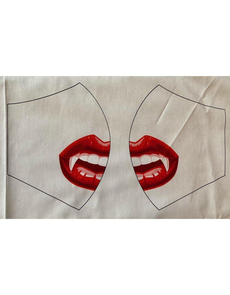 Maskenzuschnitt Vampirmund Vorderteil inkl. 50 cm Flachgummi