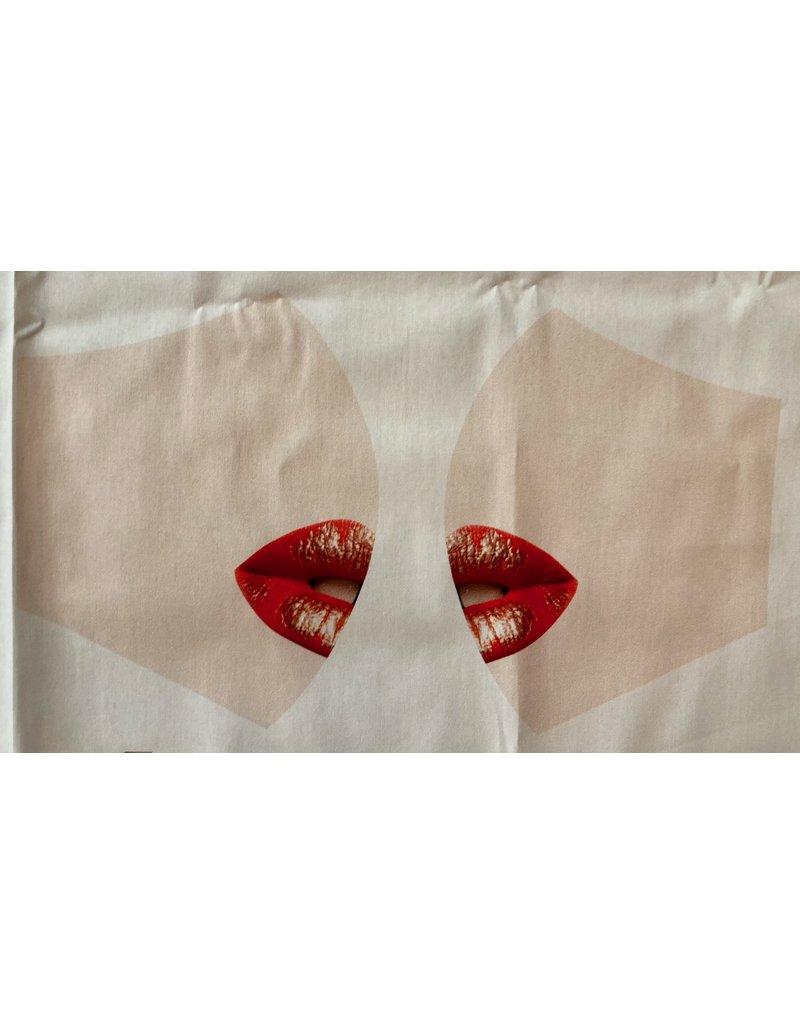 Maskenzuschnitt Mund Vorderteil inkl. 50 cm Flachgummi