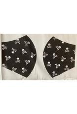 Maskenzuschnitt Piratentotenköpfe Vorderteil inkl. 50 cm Flachgummi