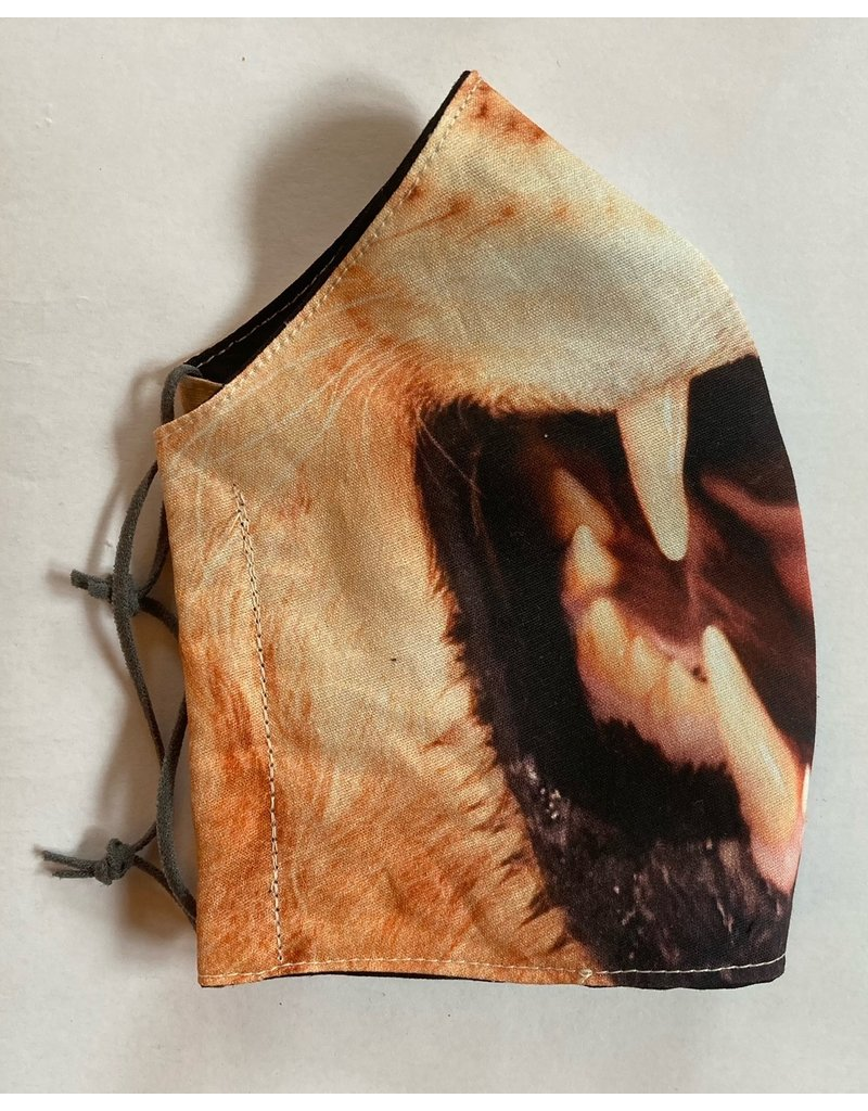 Maskenzuschnitt Löwengesicht Vorderteil inkl. 50 cm Flachgummi