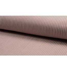 Bündchen Uni heavy rib breitgerippt Strickbündchen dusty pink