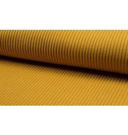Bündchen Uni heavy rib breitgerippt Strickbündchen ocre