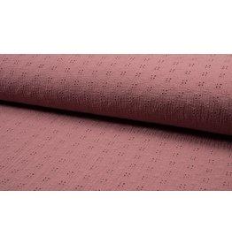 Musselin Spitze Motiv old pink