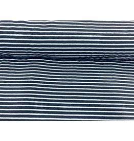 Jersey Motiv Streifen blau 7mm hellblau 3mm