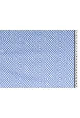 Baumwolle Motiv Rauten jeansblau