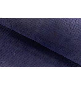 Cord dehnbar Jerseycord nachtblau