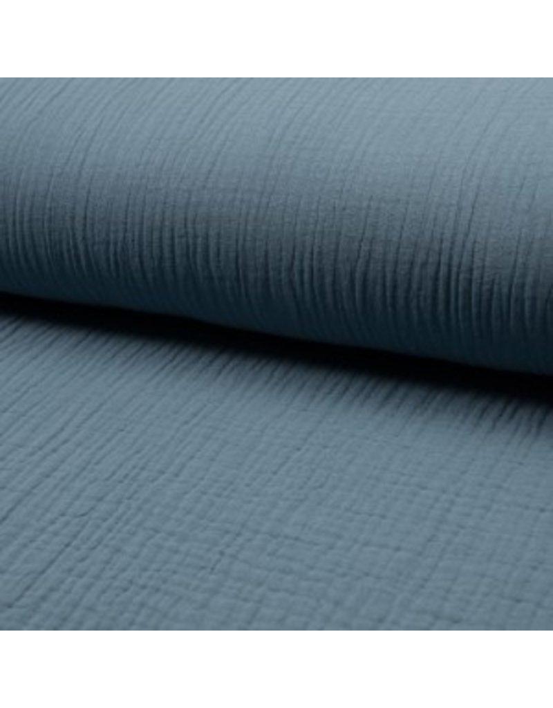 Musselin Uni blue Triple Gauze