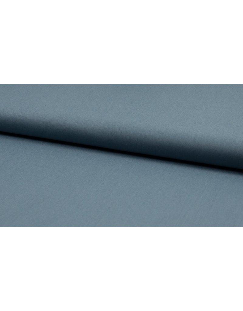 Baumwolle Organic Uni dusty blue