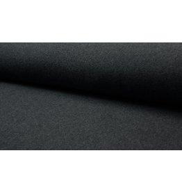 Baumwollfleece Organic Cotton dunkel grau anthrazit meliert