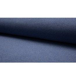Baumwollfleece Organic Cotton jenas blau meliert
