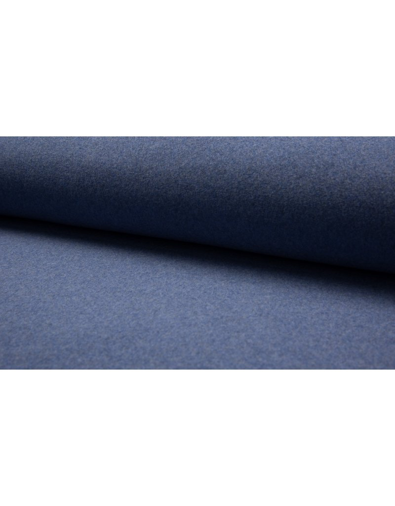 Baumwollfleece Organic Cotton jeans blau meliert