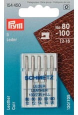 Prym Nähmaschinennadeln 130/705 Leder 80-100